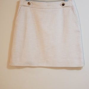 Ann Taylor Mini Skirt, Oatmeal Cream, Sz 10